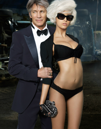 zahia dehar and eric roberts looking formal