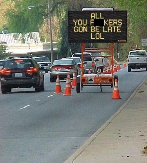 adult humor road warning sign