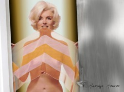 marilyn monroe nude with a see through scarf held over her breasts