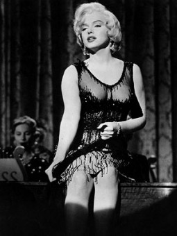 Marilyn Monroe in a scandalous see through cocktail dress in Some Like It Hot