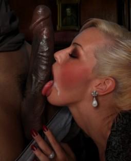 blonde licking a huge long black cock interracial sex by Garm of Garm's Kiss