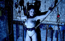 Dita Von Teese - chained in dungeon