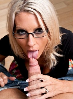 porn star Emma Starr POV bj wearing glasses in clothed sex
