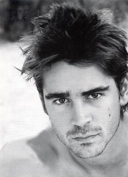 portrait headshot of brooding hot man Colin Farrell