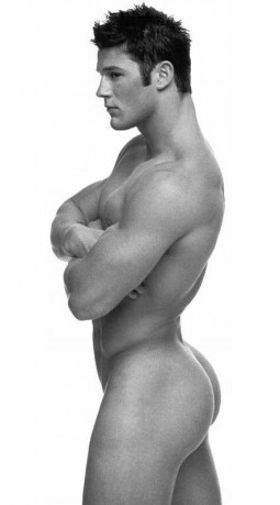 ass and torso shot of a buff muscled man