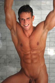 face and nude torso shot of smiling cute guy