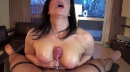 Klixen titty fucking a spurting cock for a cumshot