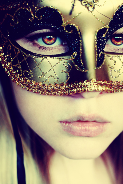 image of a gorgeous masked woman