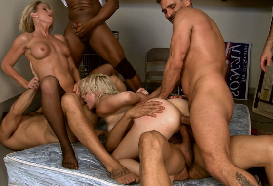 sex orgy with two women and four men