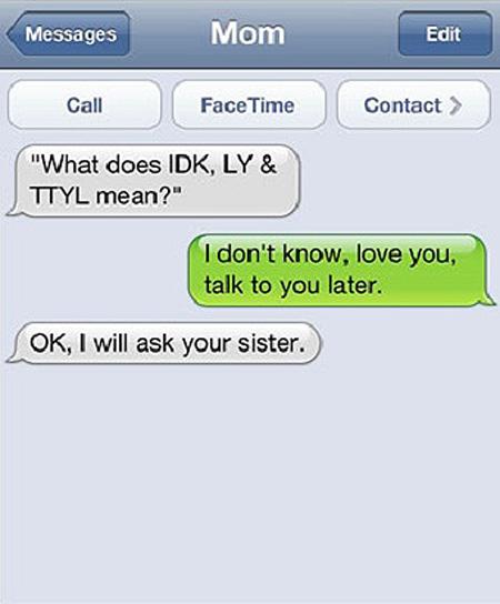 funny texting exchange