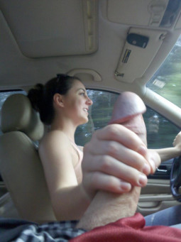 car sex - handjob driving